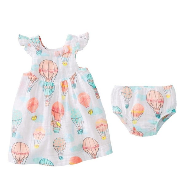 Mud Pie Balloon Dress & Bloomer Set