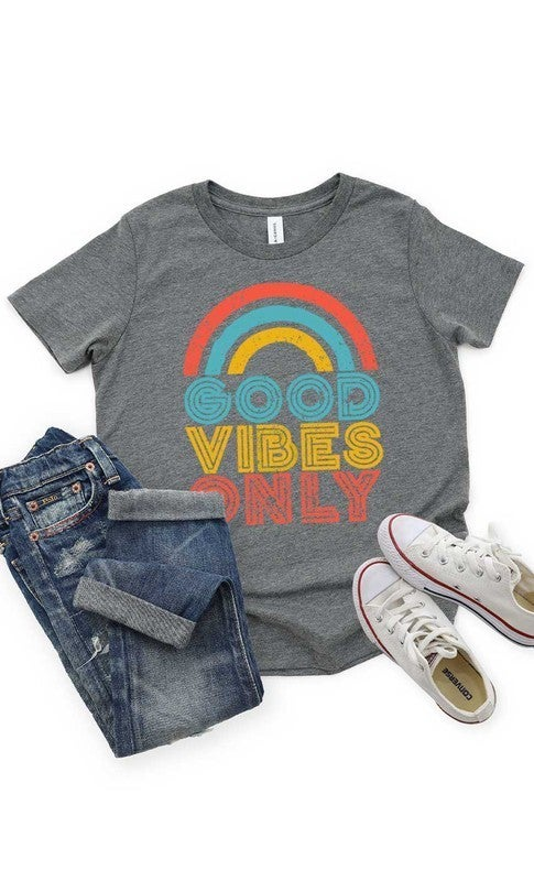 Grey Good Vibes Only T Shirt