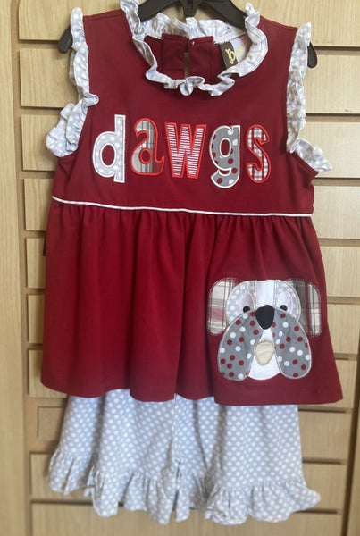 Girls DAWG Applique Shorts Set