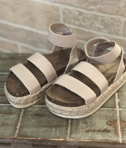 Girls Nude Espadrille Sandals