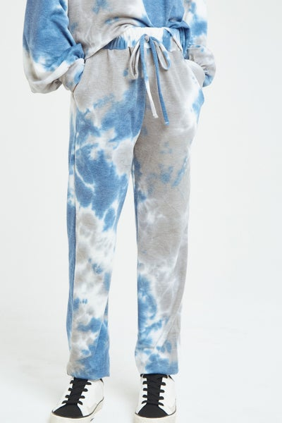Blue/Grey Tie Dye Joggers