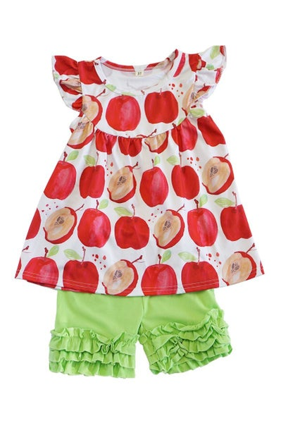 Apple Print Shorts Set