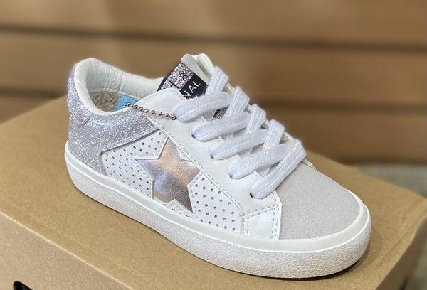 Girls Vintage Havana Silver Star Sneakers