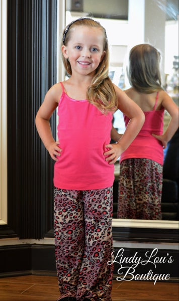 Pink Leopard Palazzo Pants