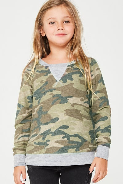 Camo French Terry Sweatshirt