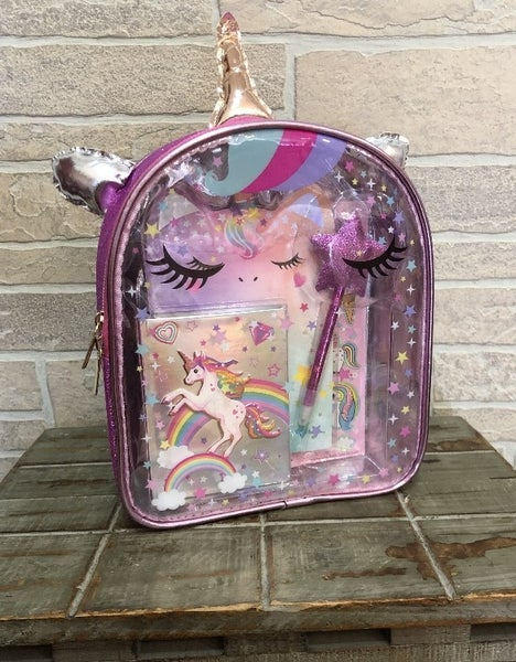 Hot Focus Unicorn Writing Stash Backpack