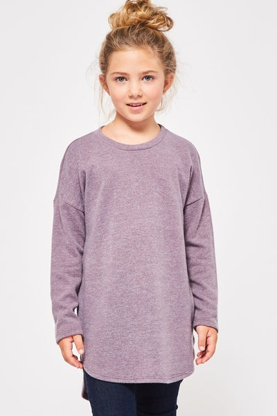 Lavender Hi/Low Tunic Top