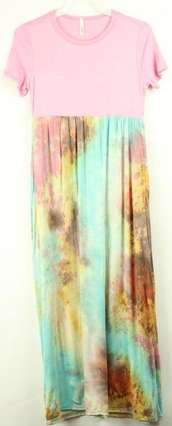 Tween Mixed Print Tie Dye Dress