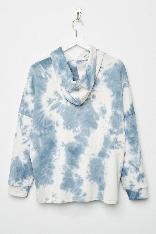 Tween Blue Tie Dye Hoodie
