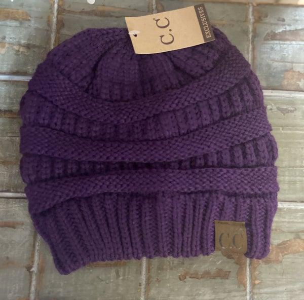 Purple CC Beanie