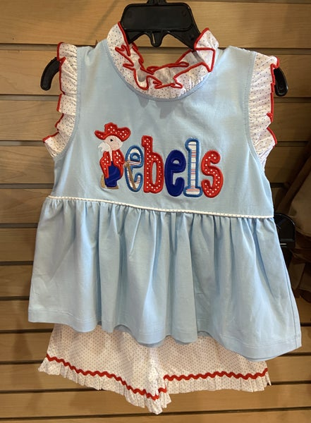 Girls Rebel Shorts Set