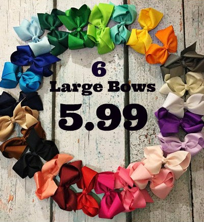 Awesome Bow Deal~ 6 Large Bow for 5.99