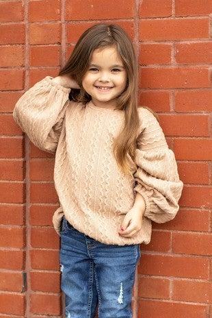 Mocha Puff Sleeve Sweater