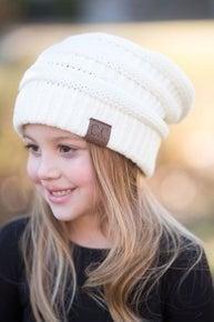 Kids CC Beanie-Ivory