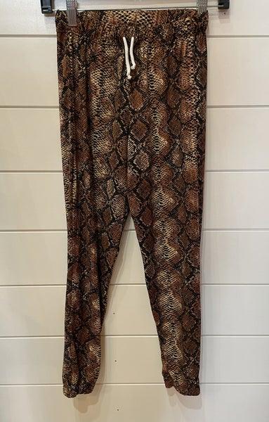 Snake Print Jogger Pants