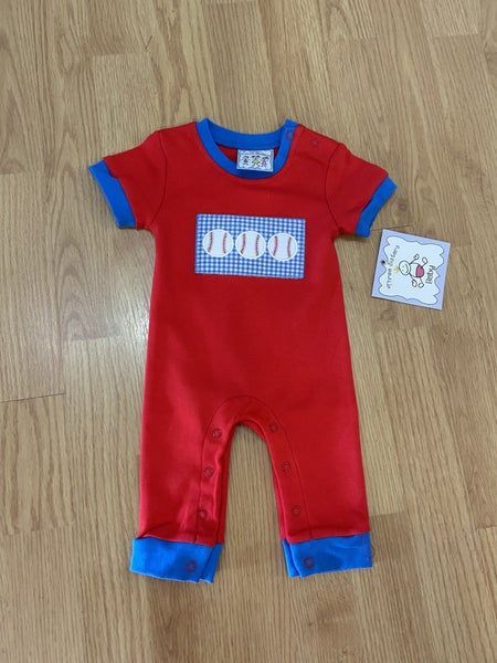 Three Sister's  Boy's Baseball Romper