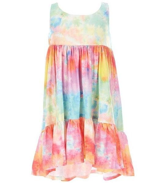 Bonnie Jean Tie Dye Hi/Low Dress