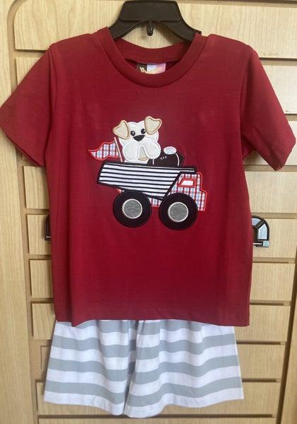 Bulldog/Truck Shorts Set