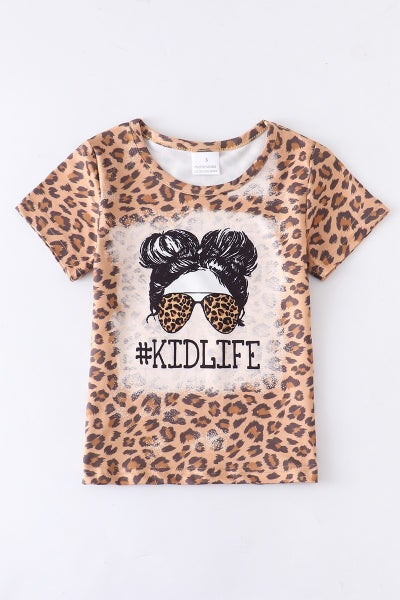 Leopard #Kidlife Shirt