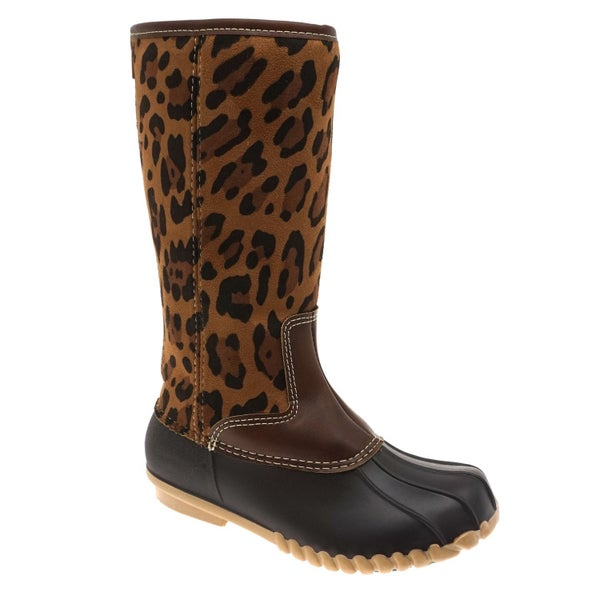 Tall Leopard Duck Boot