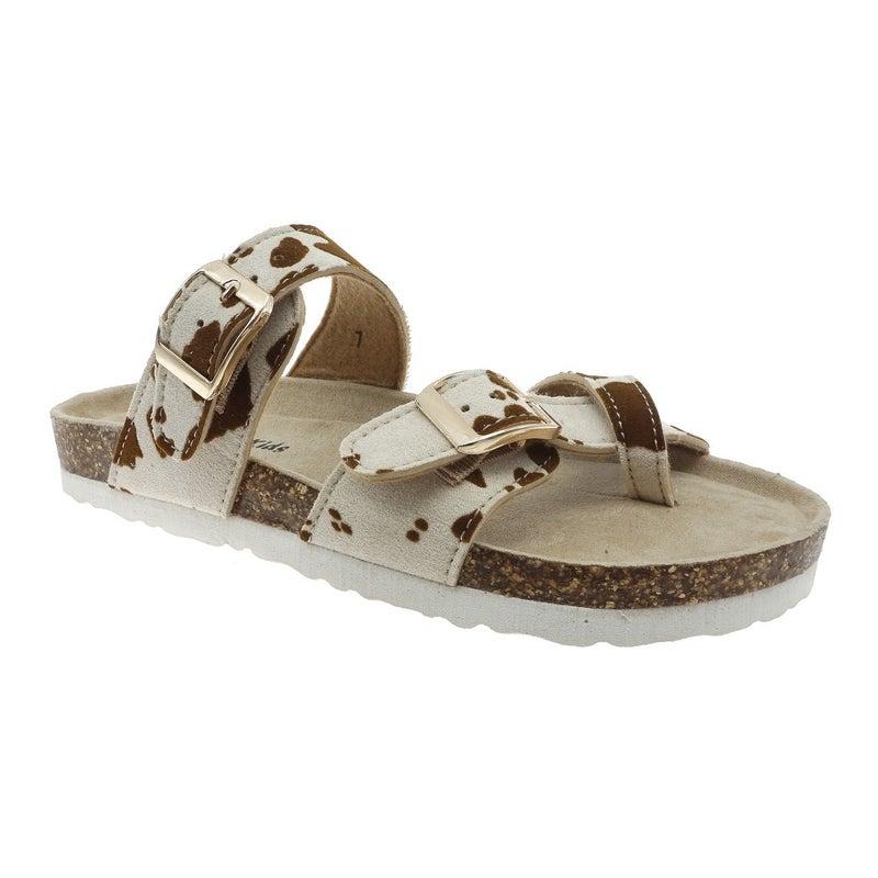 Cow Print Birkenstock Inspired Sandals
