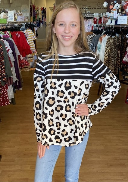 Cheetah Black Stripe with Elbow Patch