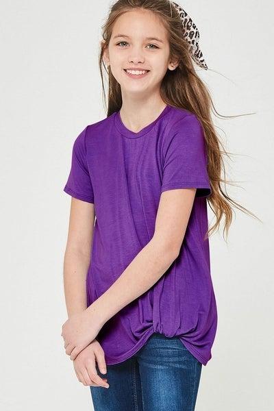 Purple Side Twist Top