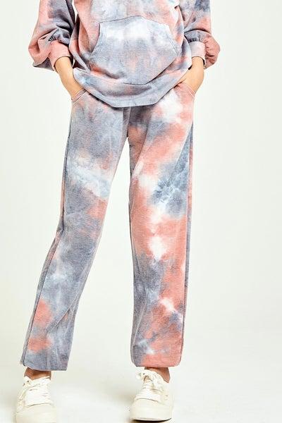 Coral/Blue Tie Dye Joggers