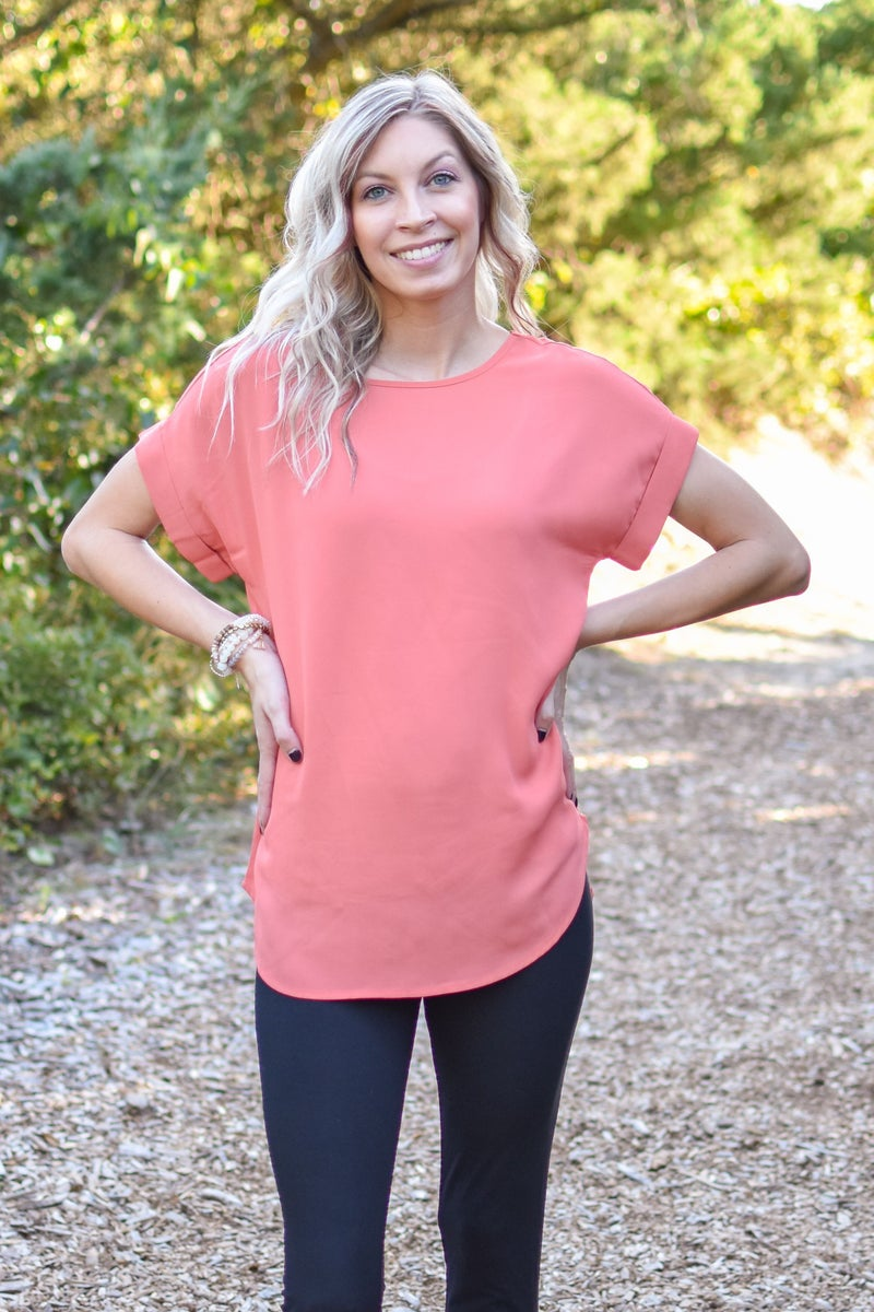 WOVEN WOOL DOBBY RELAXED FIT TOP