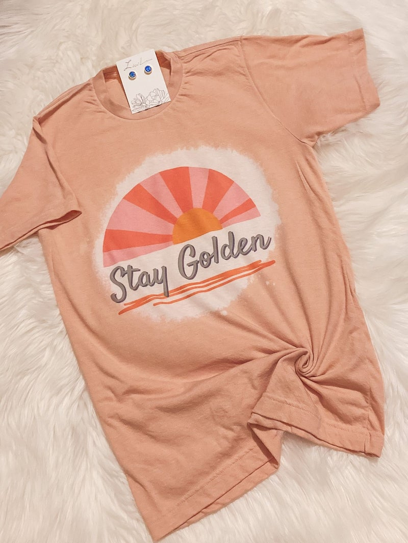 Stay Golden Bleached Tee