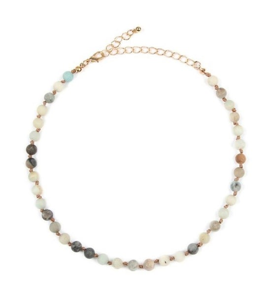 SMALL NATURAL STONE CHOKER NECKLACE