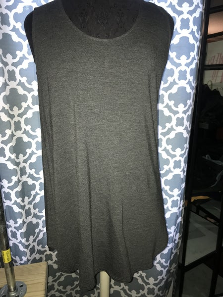 Relaxed fit cami in charcoal