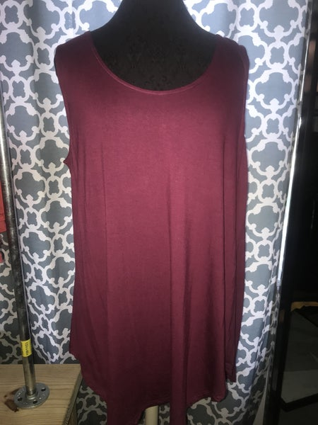Relaxed fit cami in Wine