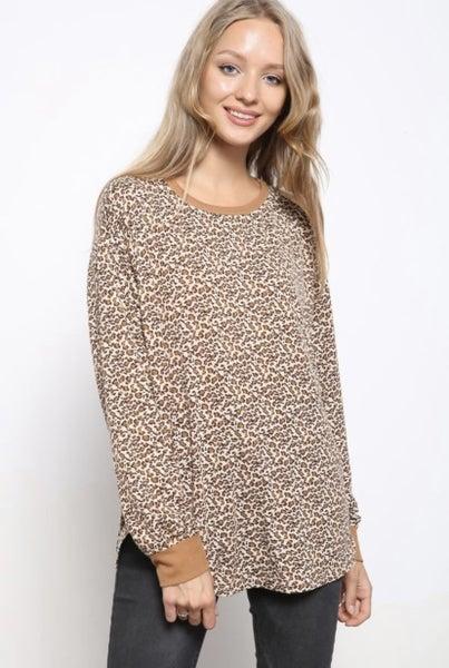Leopard long sleeve soft top