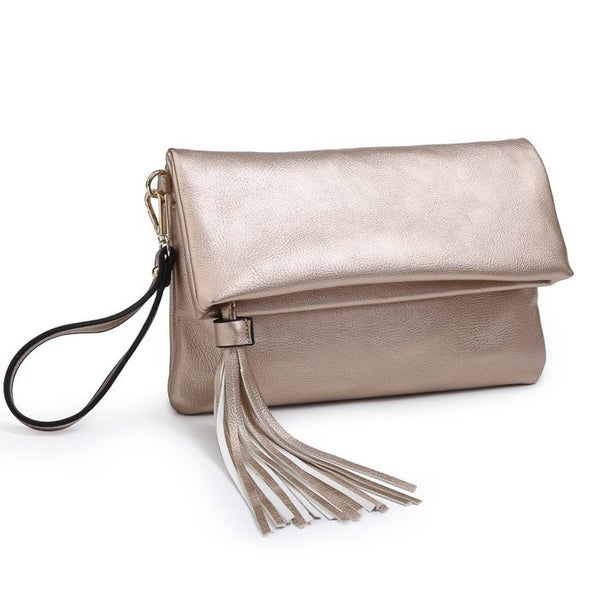 Austin clutch/crossbody in rose gold