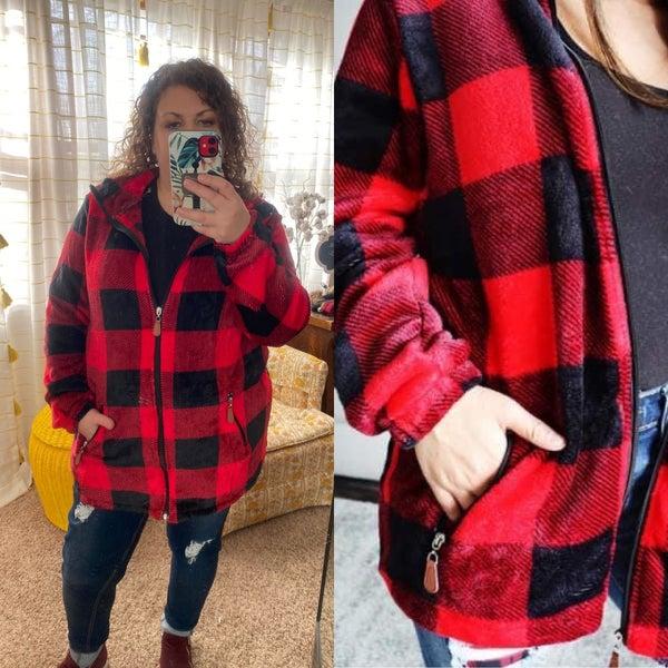 Red Buffalo Plaid jacket