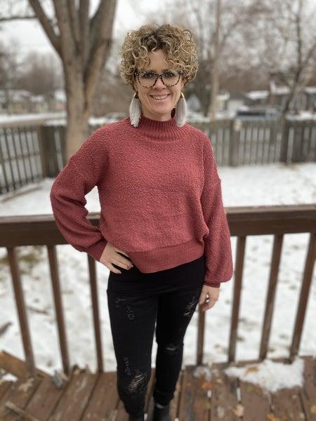 Plum textured sweater