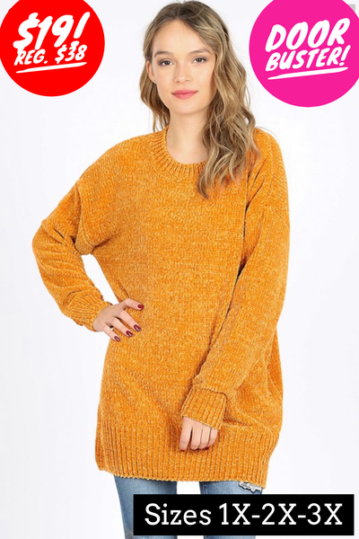 Mustard chenille sweater
