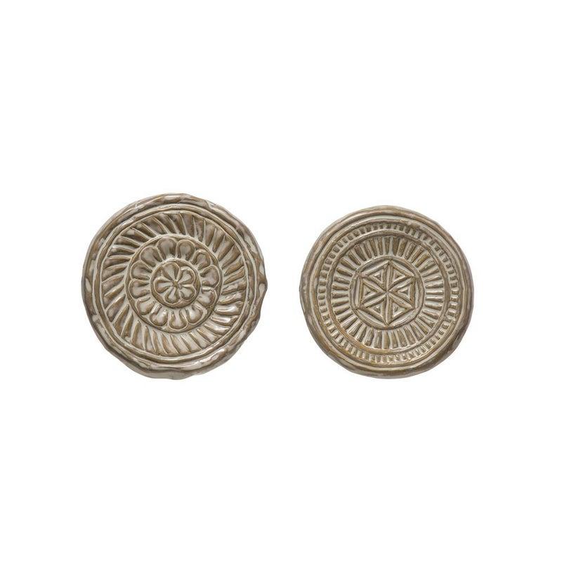 Round Embossed Stoneware Trivet- ASSORTED