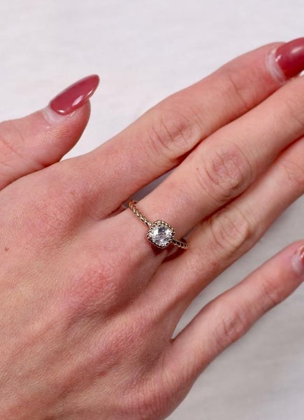 Owens Cz Ring With Twisted Band
