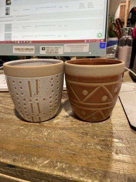 Small Ceramic Geo Pot