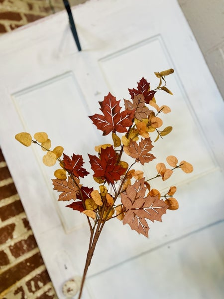 "32"" Harvest Spray W/ Wood Leaf"
