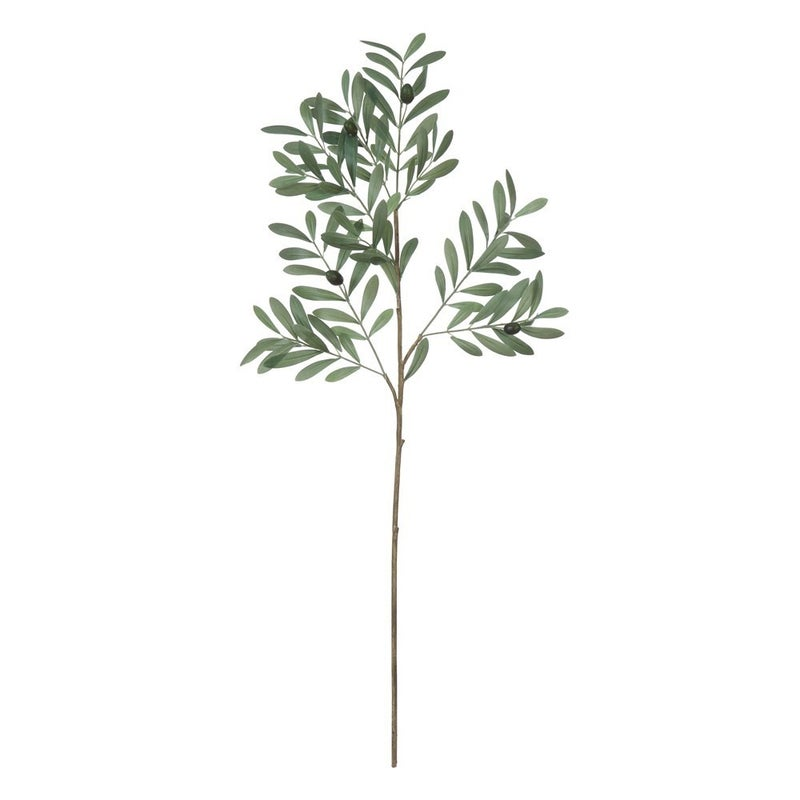 """36""""H Faux Olive Branch"""