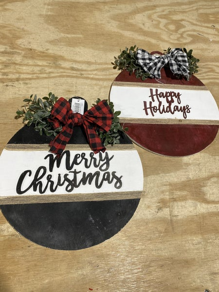 Wooden Holiday Ornament Sign