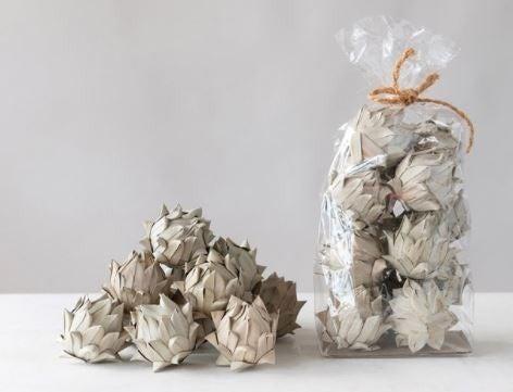 Handmade Dried Natural Palm Leaf Artichoke in Bag