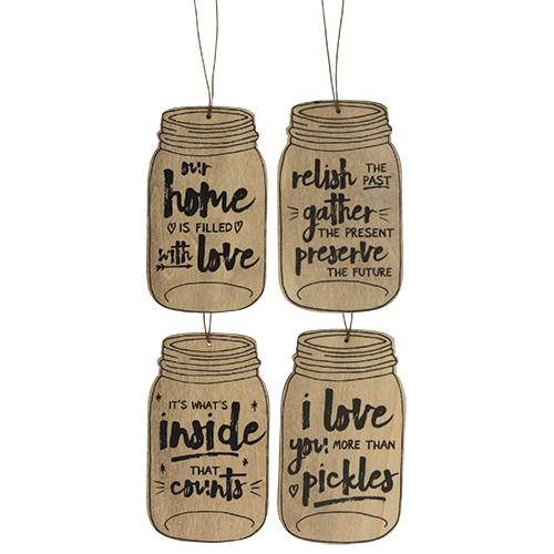 Relish Mason Jar Ornament