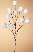 "17.5""H Holiday Marshmallow Pick"