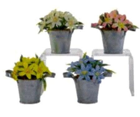 Galvanized Spring Flower Pot