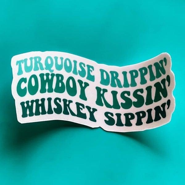Turquoise Drippin' Sticker