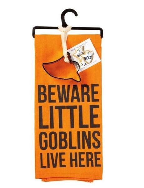 Towel & Cutter Set - Little Goblins Live Here